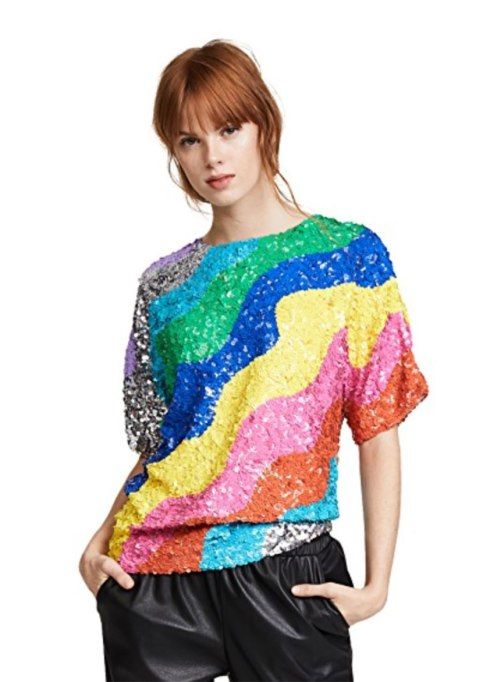 Non-Cheesy Ways to Wear Sequins: Mira Mikati shirt | Fall Fashion Trends 2017