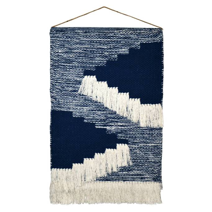 Modern Southwestern Decor: We love this blue wall hanging