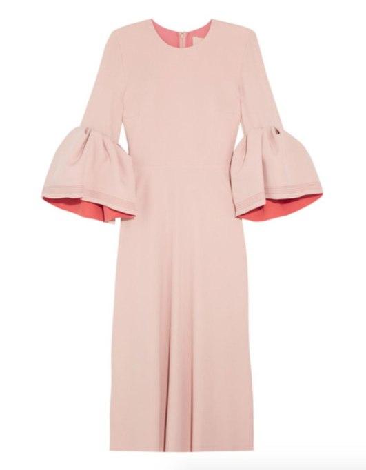 Ways To Wear Pastels This Fall | Roksanda dress