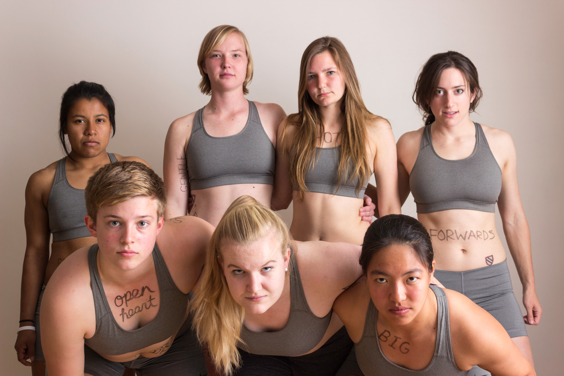 Rugby players' photos redefine what it means to play like a girl.