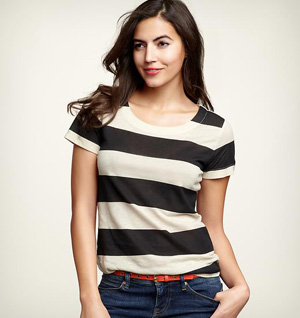 Rugby stripe clean-stitch T from The Gap
