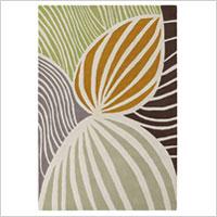 Modern leaf rug