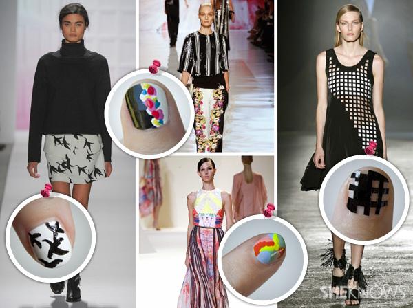 More fashion inspired nail art