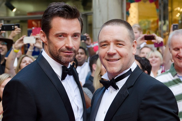 Russell Crowe with Hugh Jackman