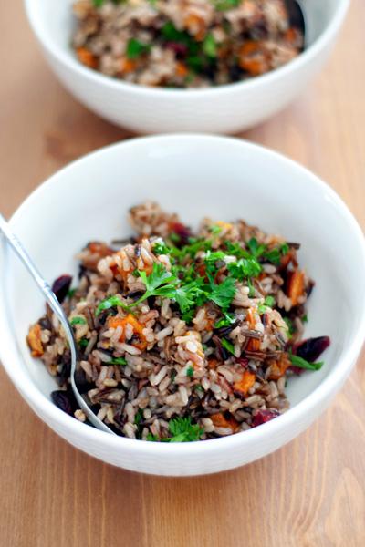Rustic winter rice pilaf recipe