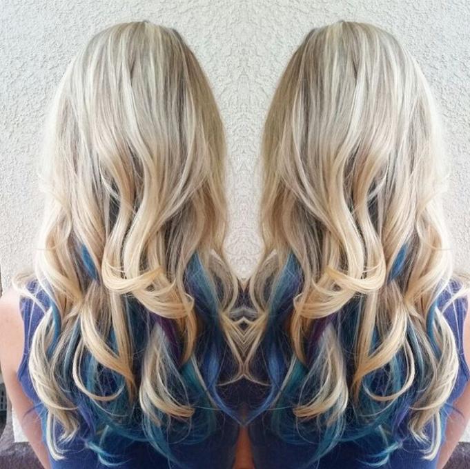 Light peacock hair color