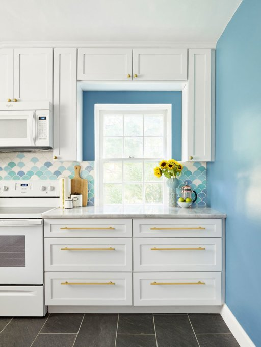 Mermaid Blue Kitchen