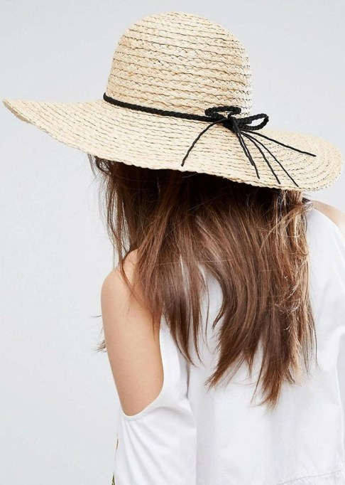 Best Sun Hats for Women: ASOS Natural Floppy Hat Braid Band | Summer Outfit Idea