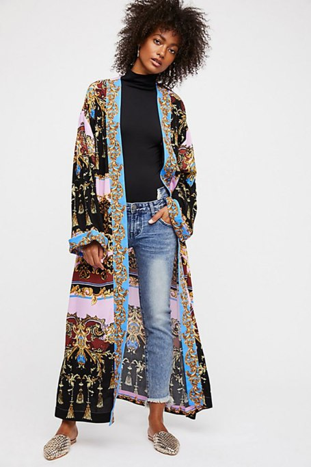 Ways To Wear Graphic Prints: Let's Dance Robe at Free People   Fall Fashion