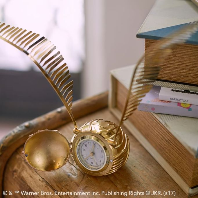 PB Teen Harry Potter Collection: This golden snitch clock is even better than a time turner