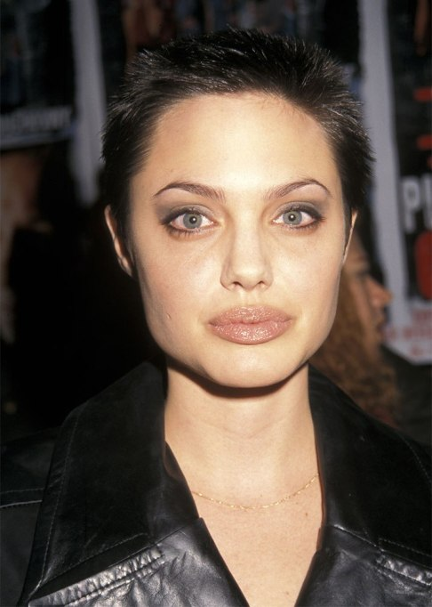Angelina Jolie Buzz Cut