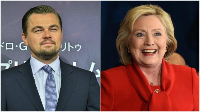 Leonardo DiCaprio, Hillary Clinton