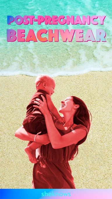 These post-pregnancy beachwear options look — and feel — great.
