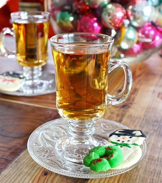 rye and ginger hot toddy