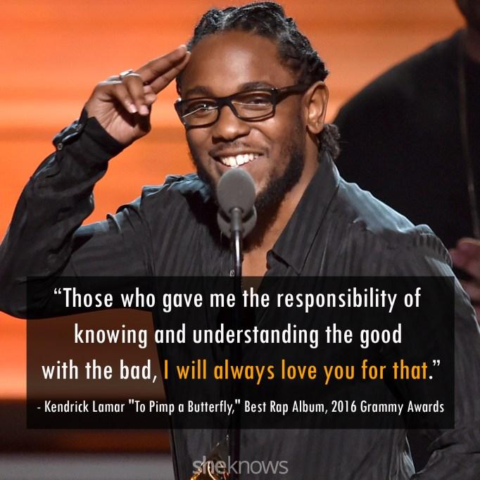 Kendrick Lamar 2016 Grammys