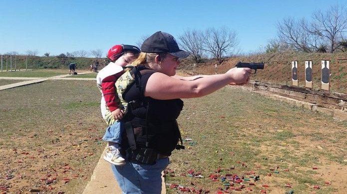 Babywearing and gun-carrying class trains parents
