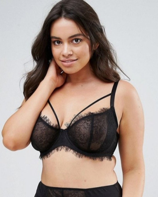 Affordable Plus Size Lingerie: Eyelash Bra