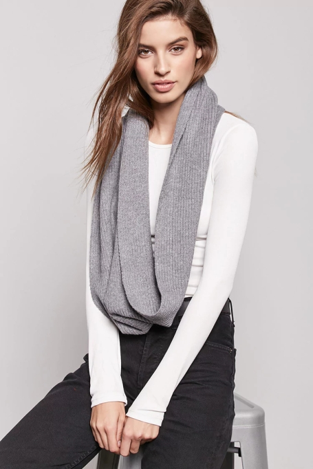 Ways to Wear an Infinity Scarf | Forever 21 ribbed infinity scarf