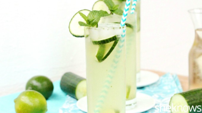 cucumber mint wine cooler