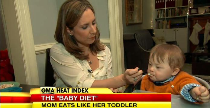 Mom claims eating like a toddler