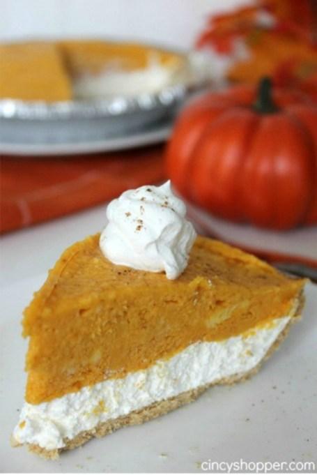 Easy No-Bake Thanksgiving Desserts: 2-Layer Pumpkin Pie