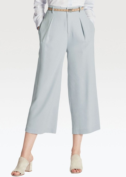 The Best Stores to Shop for Fashion Basics: Uniqlo Drape Wide-Leg Pants | Summer style 2017
