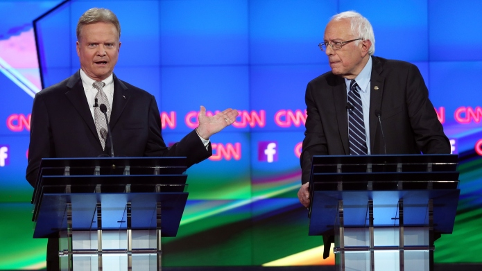 The first Democratic debate re-enacted by