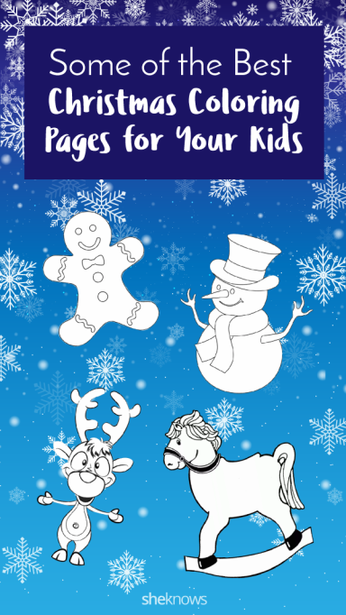 Pin it! Christmas coloring and activity pages