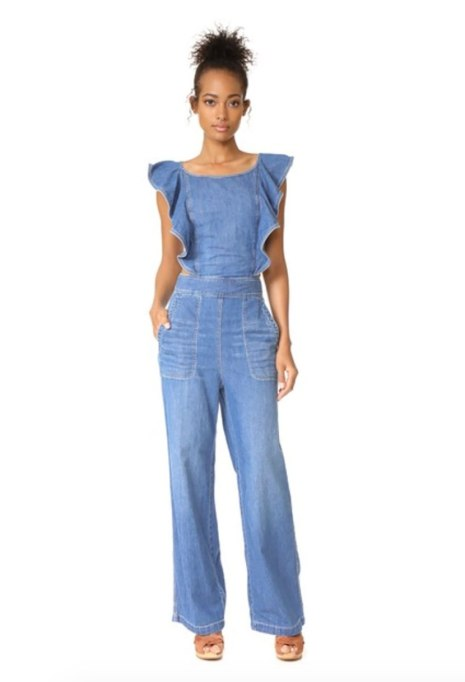Cool Denim For Fall: Rebecca Taylor Jumpsuit | Fall Fashion 2017