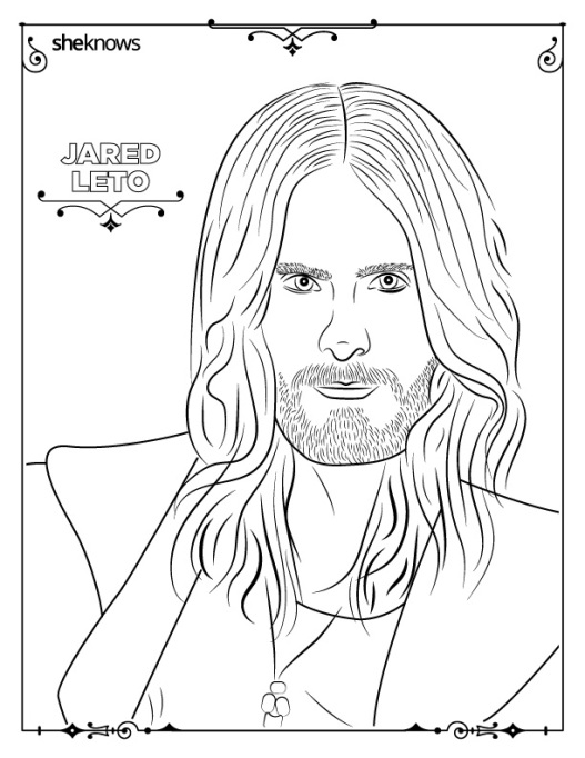 Jared Leto coloring book page