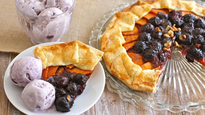 Sweet potato and cherry galette will
