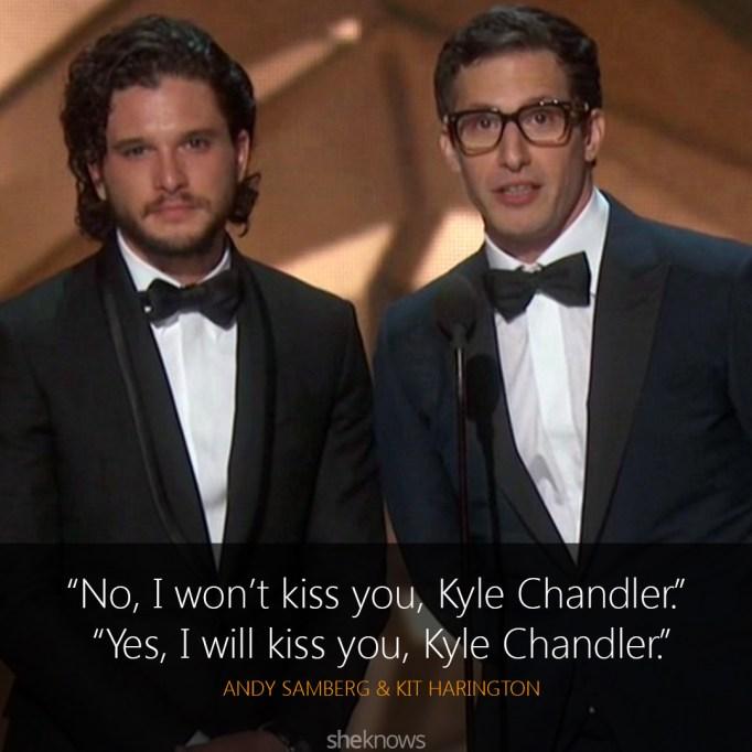 Andy Samberg & Kit Harington Emmys
