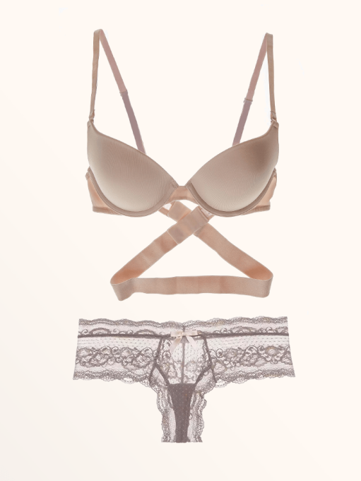Best Lingerie to Wear With Every Summer Outfit | Jezebel Embrace Convertible Extreme Plunge Push Up Bra & Anouk Boythong