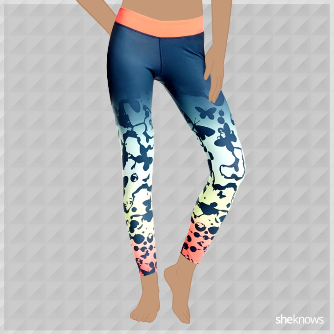 Butterfly exercise leggings