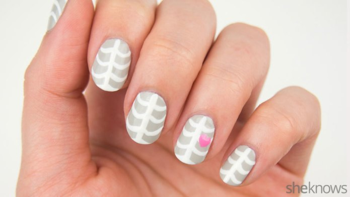 An Adorable Skeleton Mani Is Yours