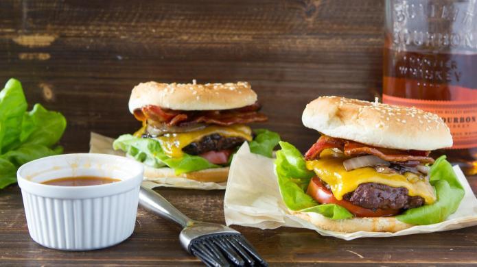 Bourbon plus burger is a match