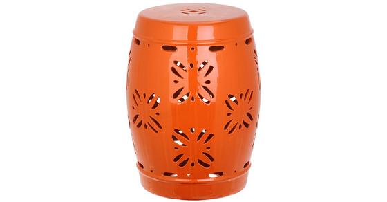 orange-garden-stool
