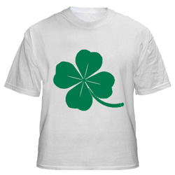 Shamrock t-shirt for St. Patrick's Day