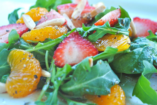 Strawberry Mandarin Orange Chopped Salad