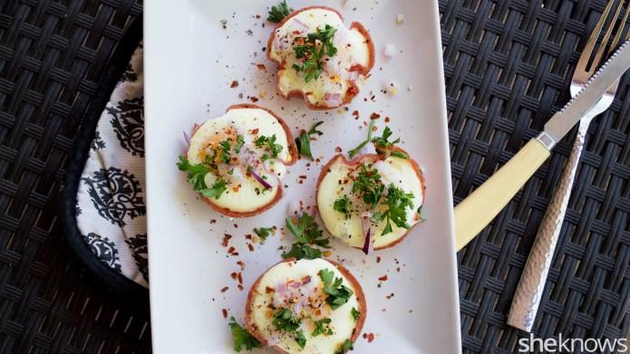 Baked salami egg bowls make the