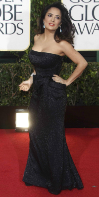 Salma Hayek at the 70th Annual Golden Globe Awards