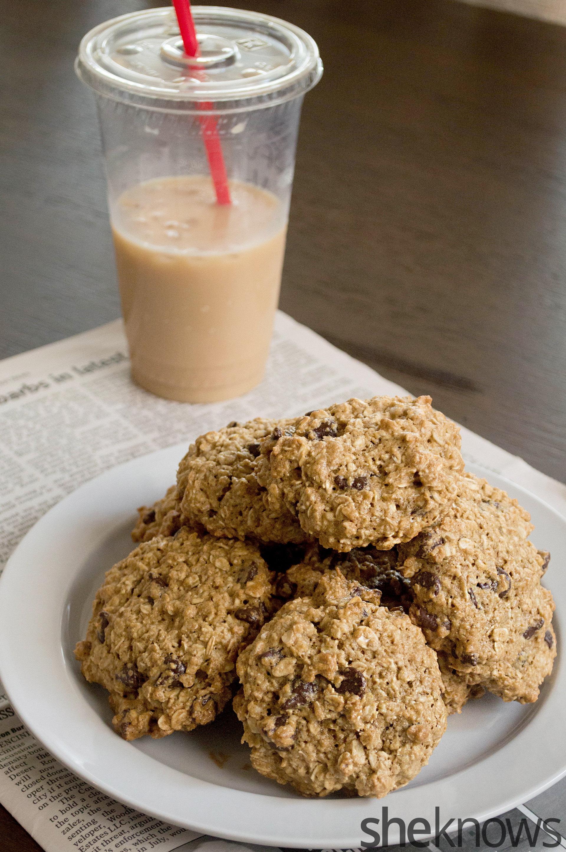 gluten-free oatmeal cookies on a plate
