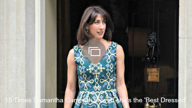 Samantha Cameron tops Vanity Fair Best Dressed list