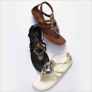 sandals with embellishment