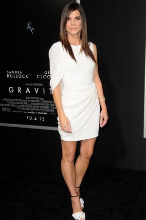 Sandra Bullock at the Gravity premiere