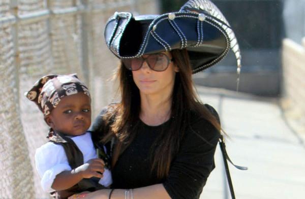 Sandra Bullock and son Louis