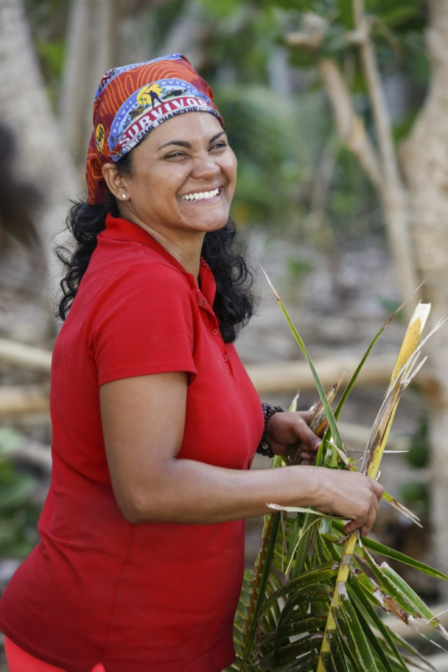 Sandra Diaz-Twine at Mana camp on Survivor: Game Changers