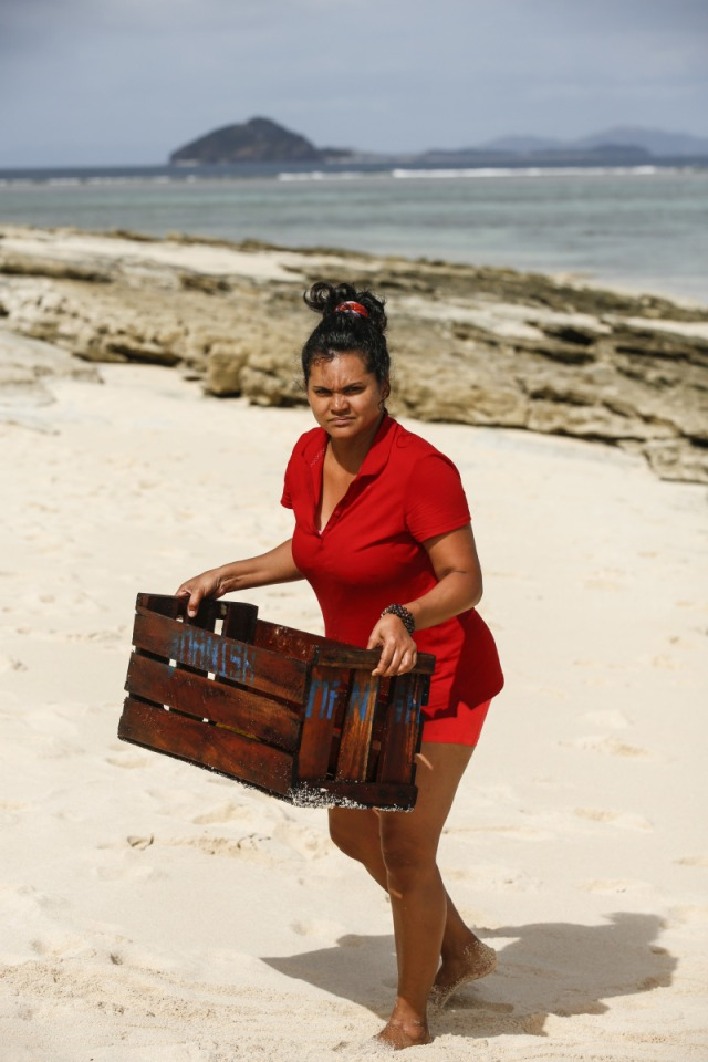 Sandra Diaz-Twine works at Mana camp on Survivor: Game Changers