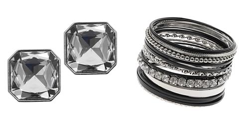 Diamond earrings and bangles