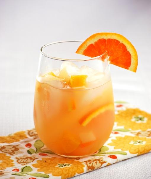 White sangria cocktail